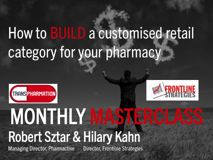 Masterclass – Build a 'customised' pharmacy retail category